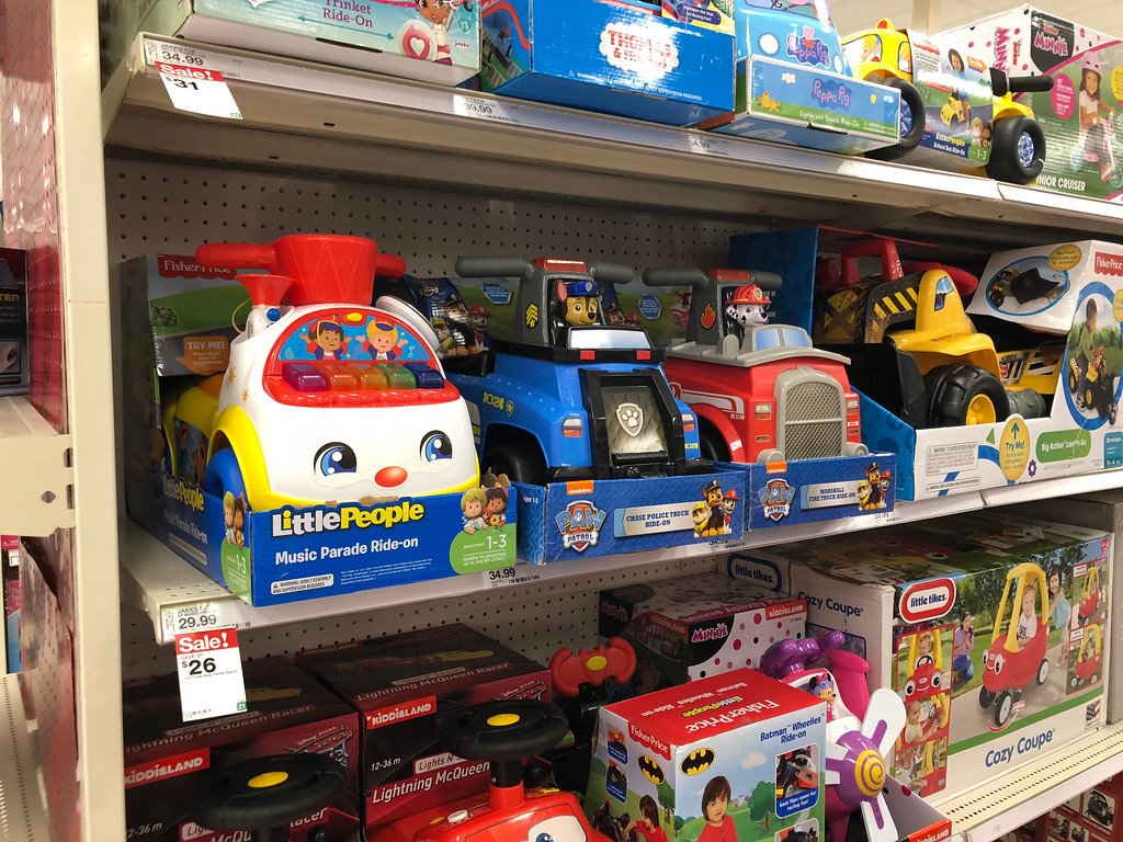 up to 50 off ride on toys at target fisher price little people little tikes disney more. Black Bedroom Furniture Sets. Home Design Ideas