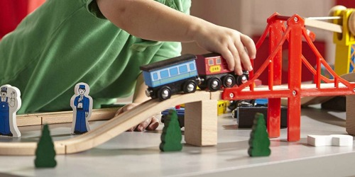 Melissa & Doug Deluxe Wooden Railway Train Set Only $64.99 (Regularly $130) + More