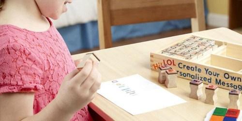 Amazon: Melissa & Doug Wooden Alphabet Stamp Set Only $10 Shipped (Regularly $20)