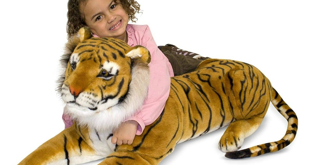 Amazon Melissa Doug Giant Tiger Plush Only 36 81 Shipped