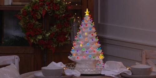 QVC: Mr. Christmas 17″ Oversized Illuminated Nostalgic Ceramic Tree Just $40.48 Shipped (Regularly $55)