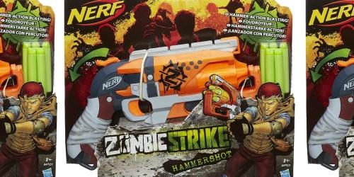 NERF Zombie Strike Hammershot Blaster Only $6.97 (Regularly $16)