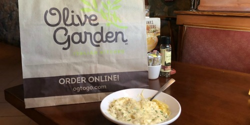 Olive Garden Take Home Dinner Entree Only $5 w/ Dine-In Entree Purchase