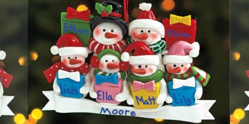 Personalizable Holiday Ornament Only $2.98 + More