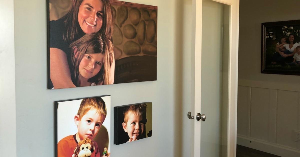 Three Photo Canvas Prints displayed on wall
