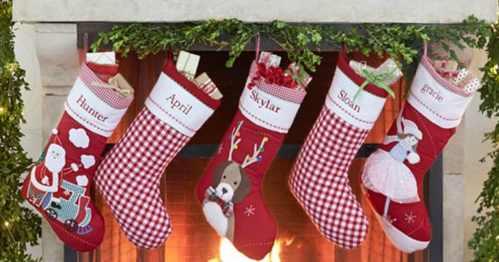 Personalized Christmas Stockings.Pottery Barn Kids Personalized Christmas Stockings As Low As