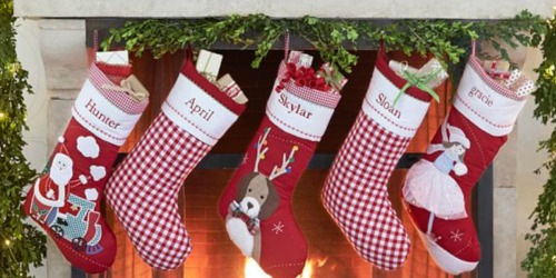 pottery barn kids personalized christmas stockings as low as 13 shipped regularly 30