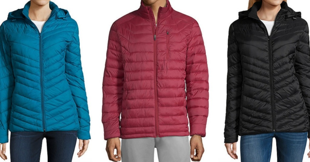 90ccf40b5424 Women s Xersion or Arizona Lightweight or Heavyweight Puffer Jackets Only   19.99 (regularly  69+)