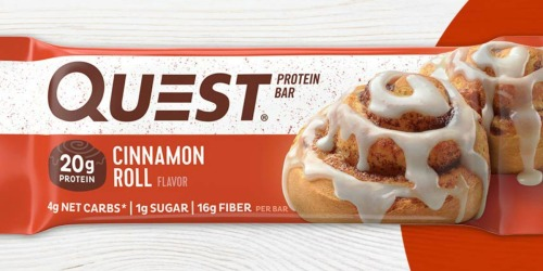 Amazon: Quest Cinnamon Roll Protein Bars 12-Count Box Only $15.77 Shipped (Just $1.31 Each)
