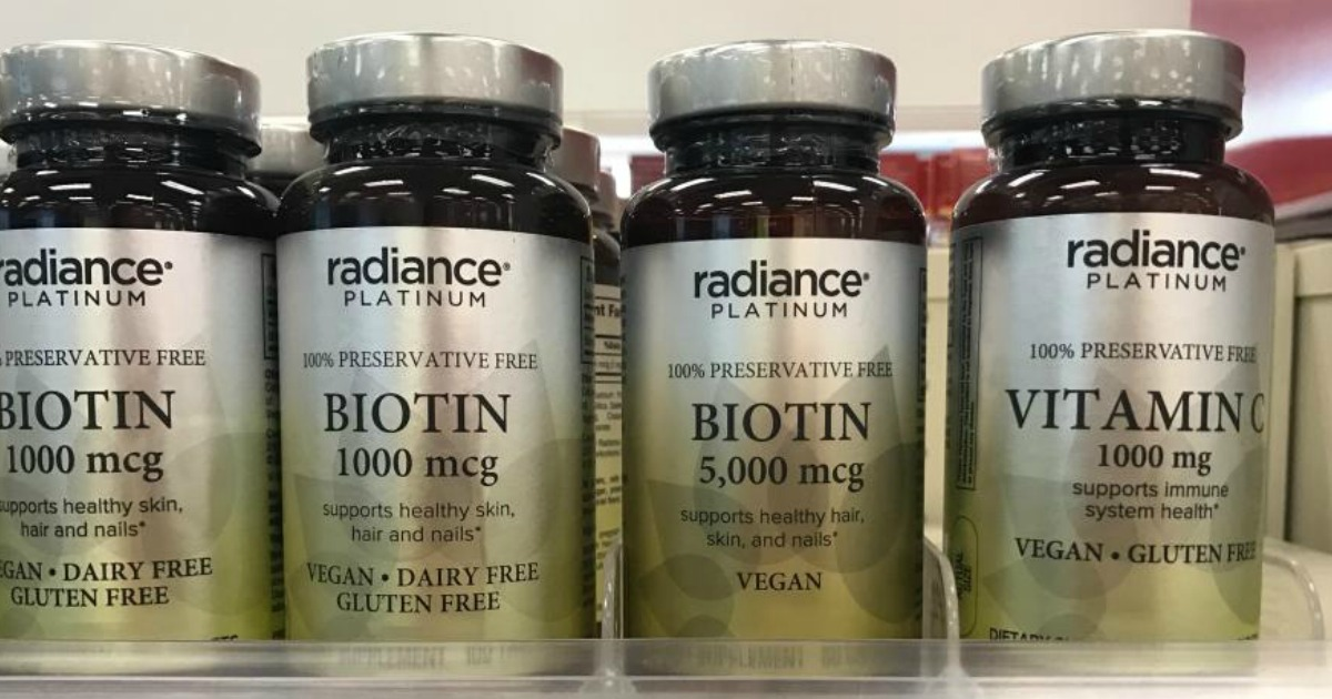 Radiance platiunum vitamins on shelf
