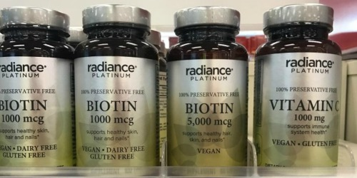 Radiance Platinum Vitamin C 60-Count Only 24¢ Each Shipped After CVS Rewards