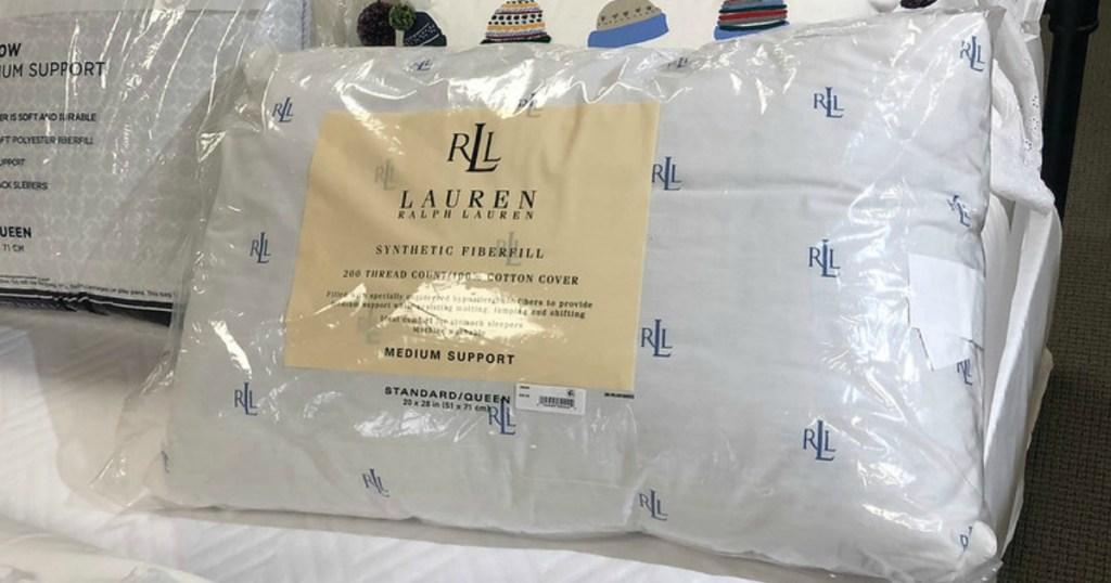 Ralph Lauren Pillows on bed