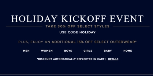 Ralph Lauren: Free Shipping + 30% Off Select Items