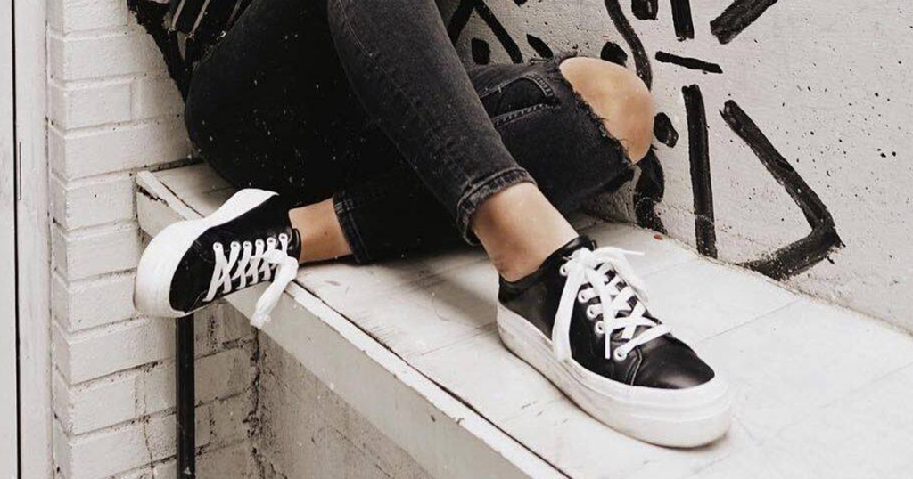 c13737d241 Milkyway Slick-Black Platform Sneakers $49.95. Use promo code CYBER40 (save  40%) Final cost only $29.97!