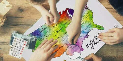 Scratch Your Travels Maps Only $18.97 Shipped