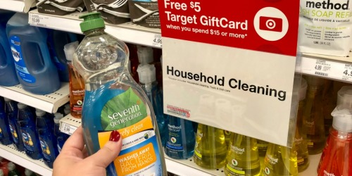 Seventh Generation Dish Soap & Dishwasher Detergent Only $1.75 Each After Target Gift Card