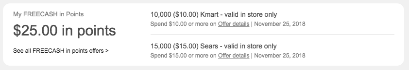 Up to $25 FREECASH in Points to Use In-Store at Kmart or