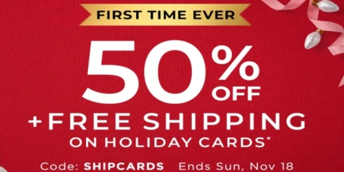 Shutterfly: 50% Off Holiday Cards + Free Shipping