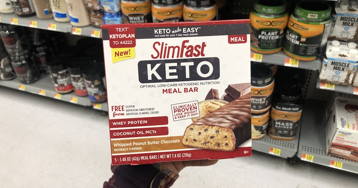 graphic about Slim Fast Coupons Printable called Fresh new $2/1 SlimFast Keto Content Coupon \u003d 40% Off Bodyweight Bombs