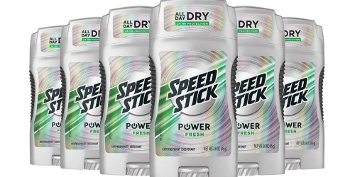 Amazon: Speed Stick Deodorant 6-Pack Only $6.41 Shipped (Just $1.07 Each)