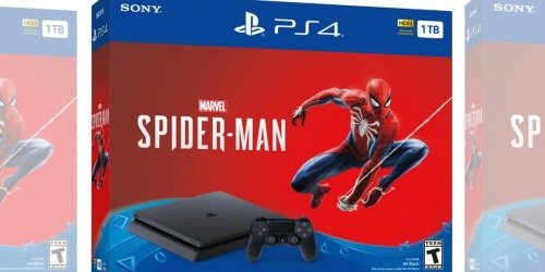 PlayStation 4 1TB Marvel Spider-Man Console Bundle as Low as $189.99 Shipped (Regularly $300)