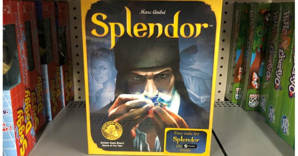splendor card game on store shelf