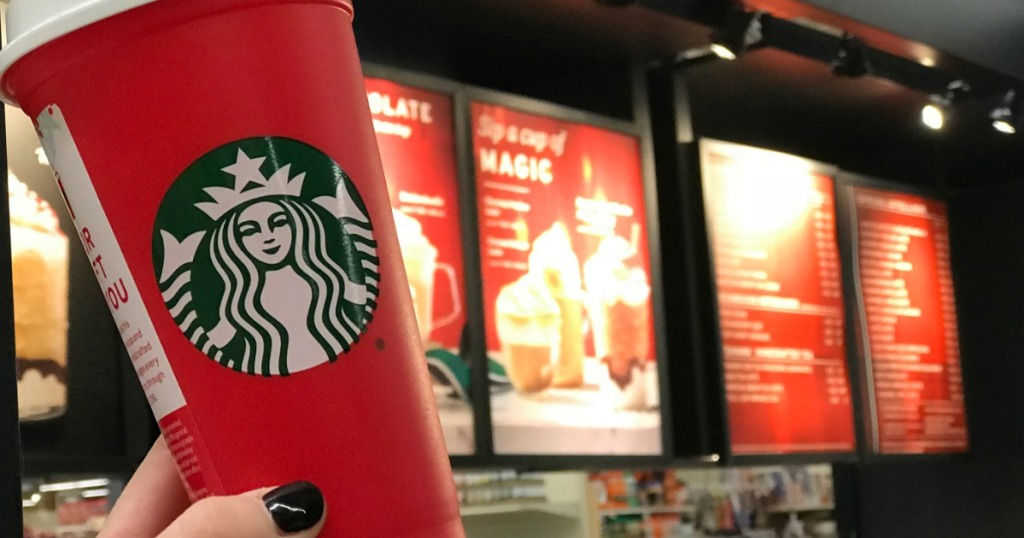 red cup at Starbucks