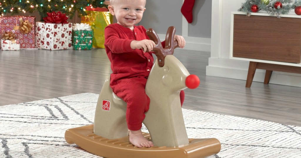 Bed Bath And Beyond Christmas Eve Hours.Step2 Rudolph The Rocking Reindeer As Low As Only 15 99 At