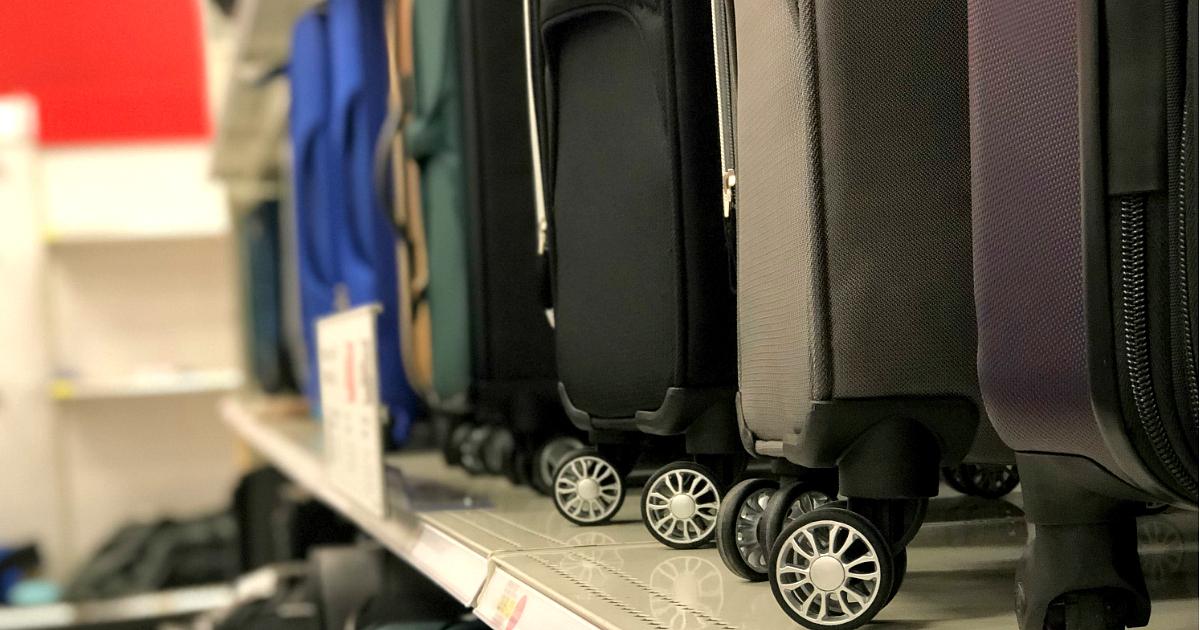 target adds affordable luggage travel accessories line. Black Bedroom Furniture Sets. Home Design Ideas