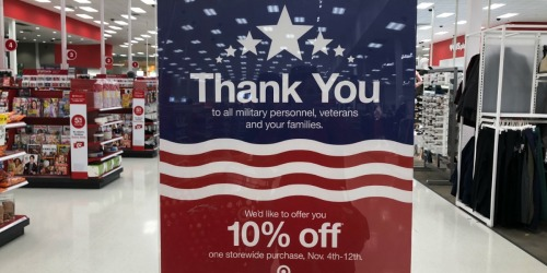 10% Off Target Purchase Coupon for Military Members & Families (Valid In-Store & Online)