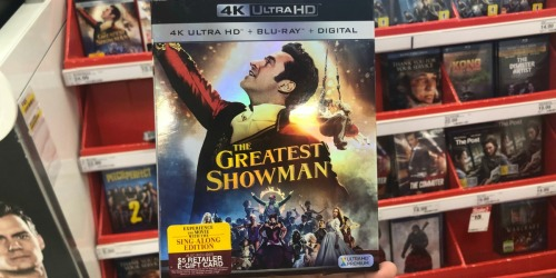 The Greatest Showman 4K UHD Blu-ray Only $9 Shipped (Regularly $25) + More Movie Deals at Target