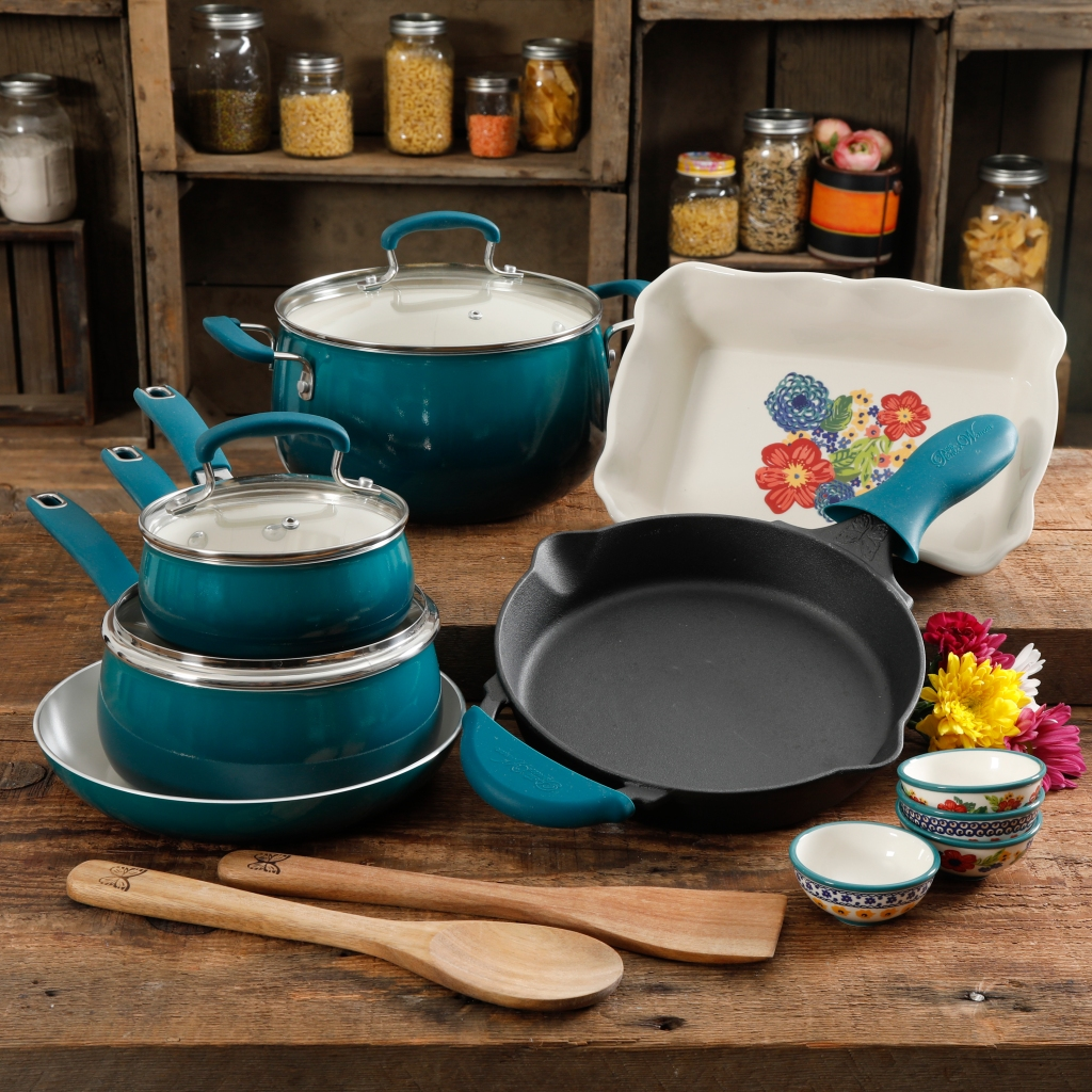 The Pioneer Woman Cookware set at Walmart