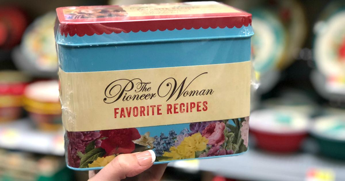 pioneer woman recipes box walmart deal – The Pioneer Woman Favorite Recipes Tin at Walmart