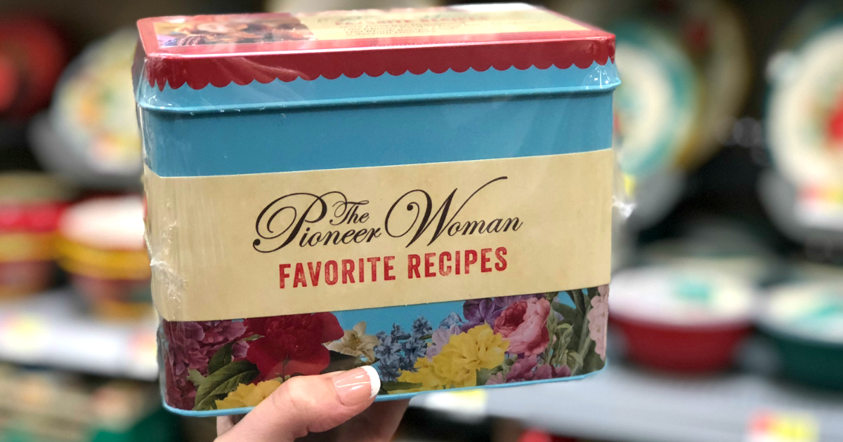 pioneer woman recipes box walmart deal – The Pioneer Woman Favorite Recipes Tin at Walmart