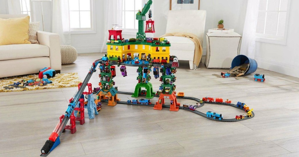 Thomas Friends Super Station Railway Train Set Only 74 Shipped