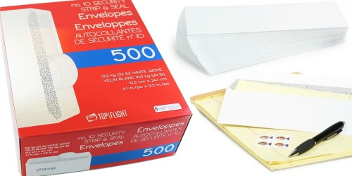 Amazon: Top Flight Strip & Seal #10 Envelopes 500-Count Only $12.43 Shipped (Regularly $23)