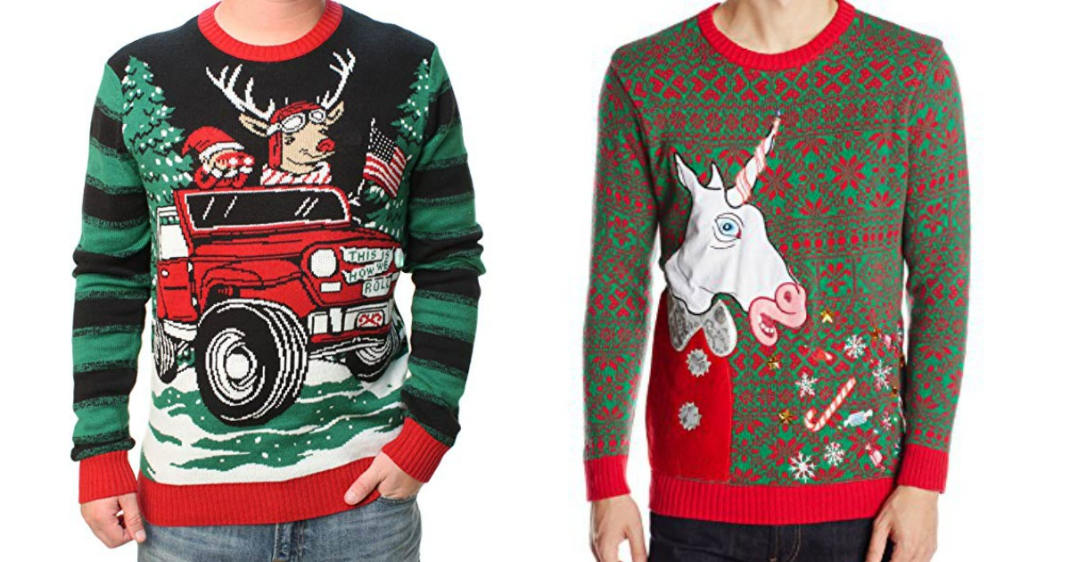 Soffe Boys Big Funny Ugly Christmas Sweater Raglan Shirt
