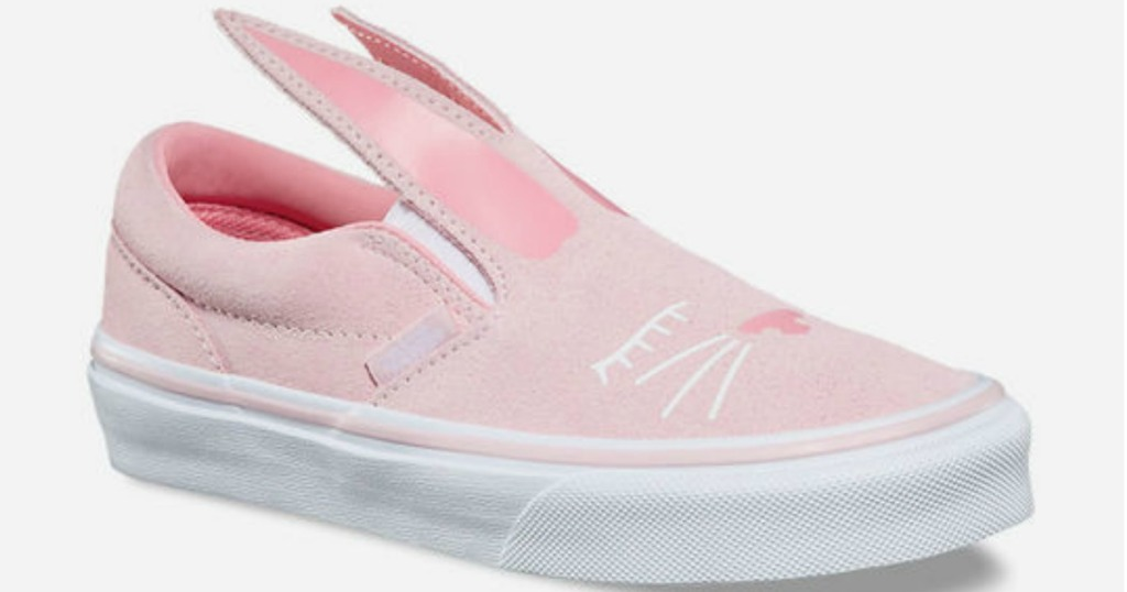 7ed1ee1d6a VANS Bunny Light Pink or Black Slip-On Girls Shoes  17.48 (regularly   39.99) Use promo code HIP2SAVE (free shipping) Final cost  17.48 shipped!