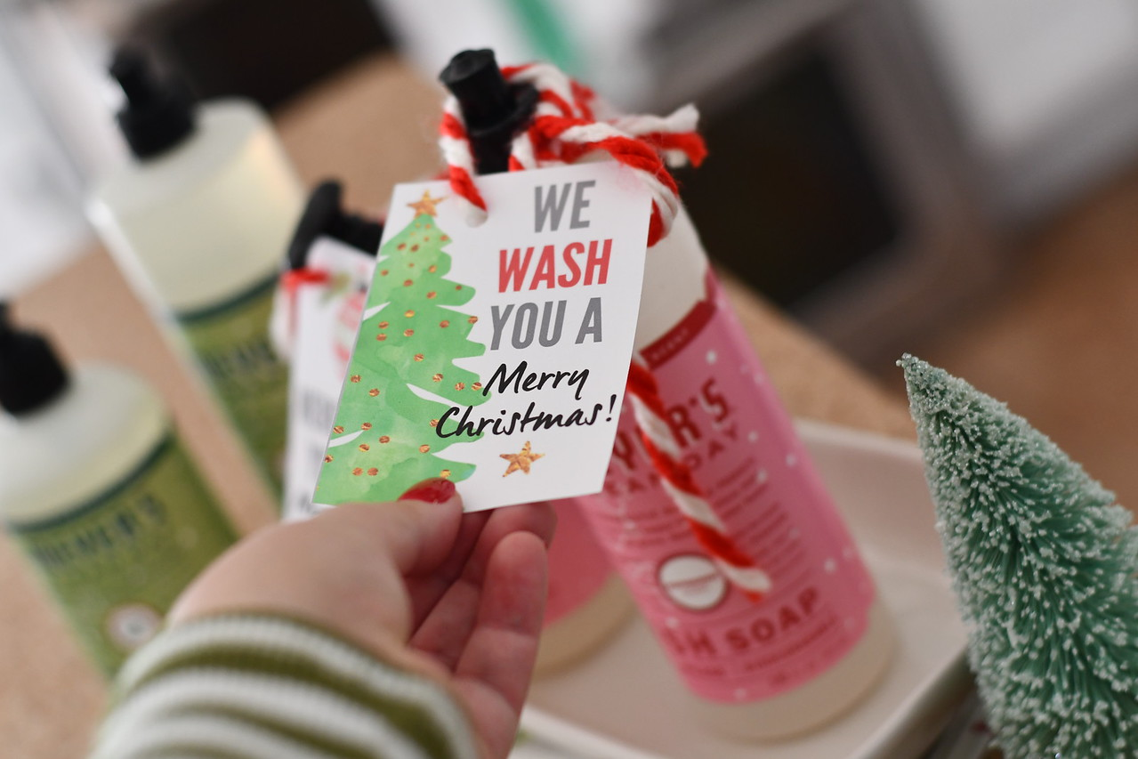 we wash you a merry christmas soap gift free printable