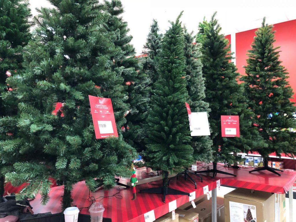 christmas trees in target