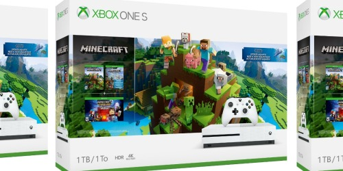 Xbox One S Minecraft Starter Bundle Only $199.99 Shipped (Regularly $300) + Earn $60 Kohl's Cash