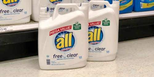 HUGE All Laundry Detergent 184.5oz Jug Only $9.49 Each After Target Gift Card