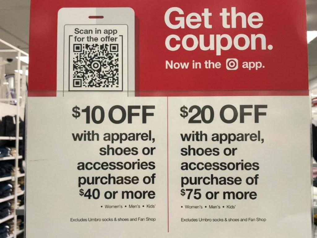 apparel offer target