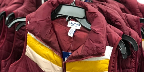 Puffer Vests Only $14.99 at JCPenney (Black Friday Pricing)
