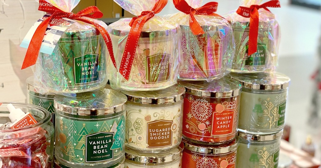 bath and body works candle, great for gift-giving