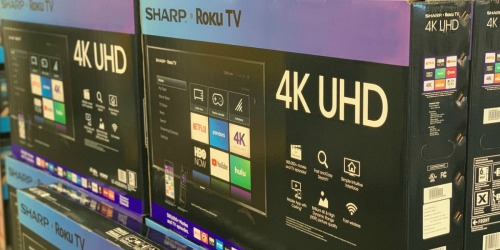 Sharp 65″ Class LED Smart 4K TV w/ Roku Only $399.99 (Regularly $700)