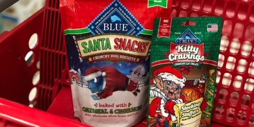 Blue Buffalo Santa Dog Snacks Only $1.50 Per Bag (Regularly $4) at Target + More