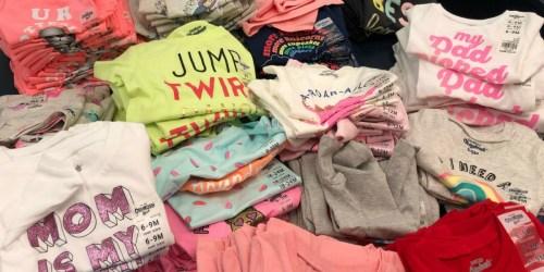 60% Off Carter's&OshKosh B'Gosh Kids Clothing + FREE Shipping