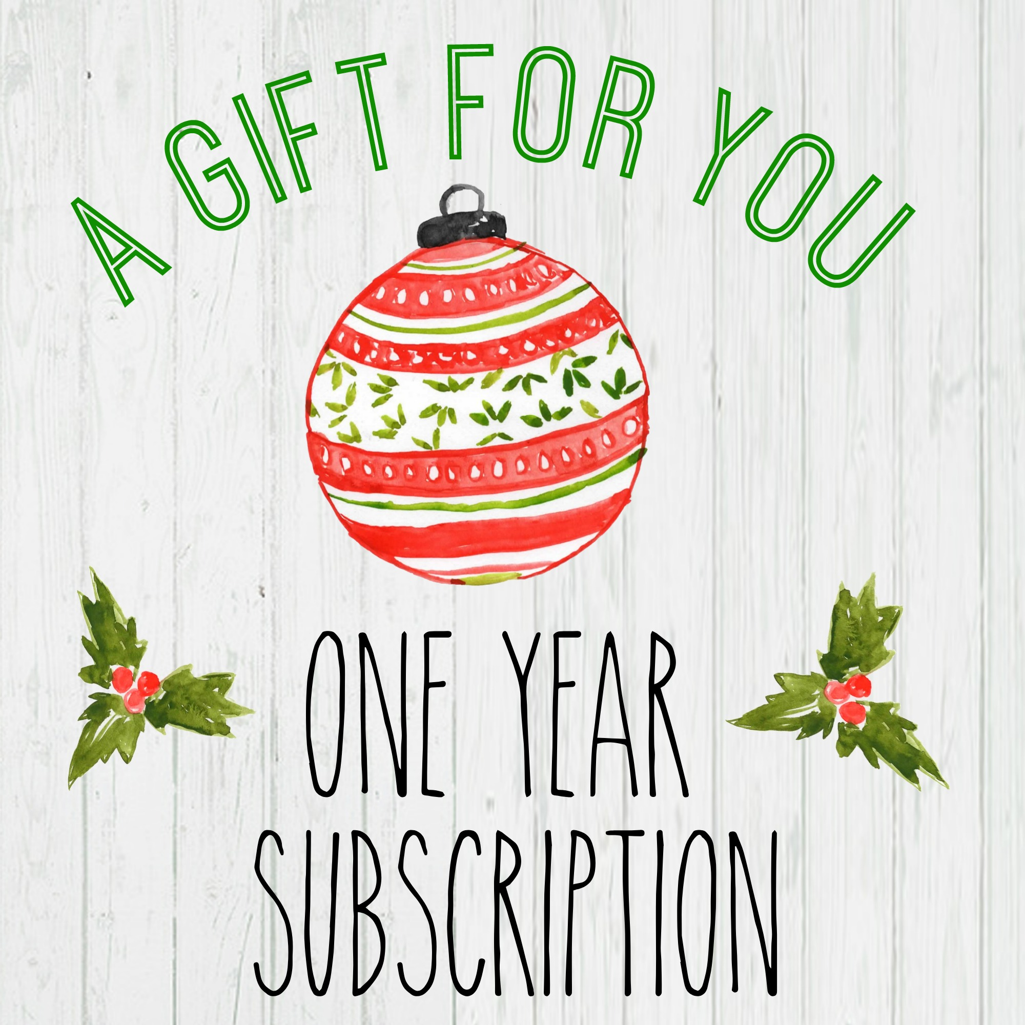Gift A Magazine Subscription With Our Free Printable Cards