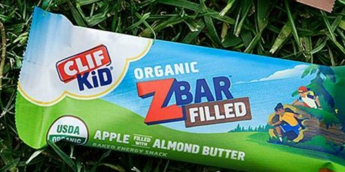 Amazon: CLIF Kid Zbar Apple Almond Butter Filled Energy Bar 12-Pack Only $3.78 Shipped (Just 32¢ Per Bar)